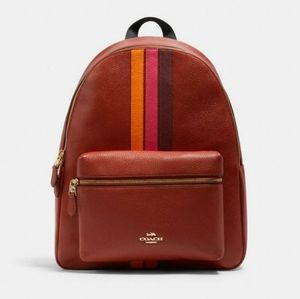 ⚜Coach Charlie Backpack With Varsity Stripe